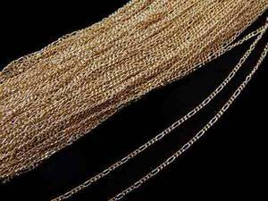 Cadena En Chapa De Oro 14k Bisuteria Lote 50 Gr