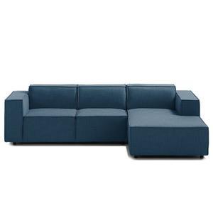 Linx Sofá Esquinero Estilo Moderno Tela Color Azul Marino