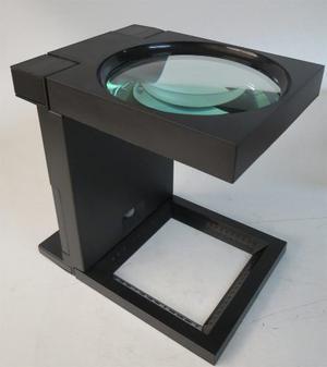 Lupa Cuentahilos De Cristal Con Luz 110 Mm De 2.5 X