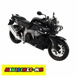 Moto De Colección Bmw Kr Negra Escala 1:12 Automaxx