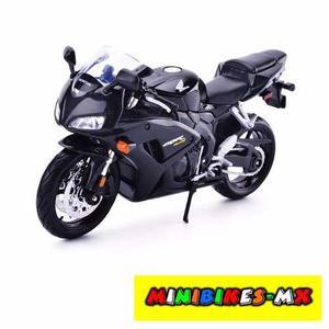 Moto De Colección Honda Cbrrr Negro Escala 1:12 Maisto