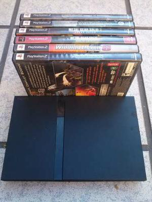 Ps2 Slim (original Sin Chip) Con 6 Juegos