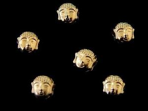 Separador Cabeza De Buda En Chapa De Oro 14k Lote 6 Piezas