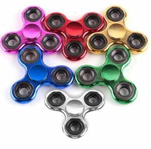 Spinner De Metal Cromado 3 Puntas Varios Colores