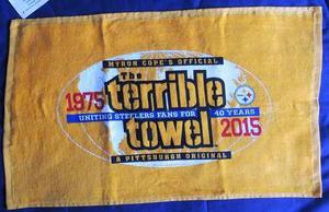 Toalla Terrible 40 Aniversario Pittsburgh Steelers Nfl