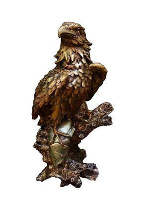 Escultura Figura Aguila Apariencia Bronce 85