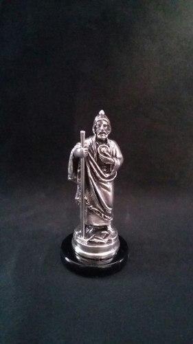 Escultura San Judas Tadeo Plata Electroformado Figura