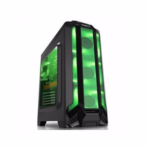 Gabinete Eagle Warrior Gamer Robot Q Verde Atx Matx