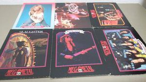 Grupos de rock lote 6 tarjetas de coleccion