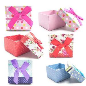 Paquete 24 Cajas Regalo Colores Bisutería Anillos Mayoreo 2