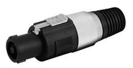 Plug Speakon Tipo Neutrick 4 Hilos Protector Cable