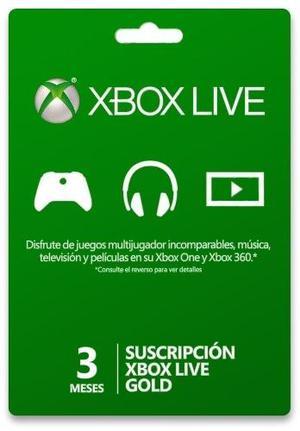 Xbox Live Gold 3 Meses (mayoreo) - Codigo Descargable