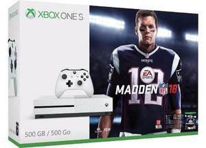 Xbox One S 500gb Con Madden 18 Nuevo
