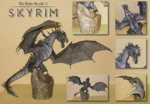 Dragón De Hielo Para Armar En Papel