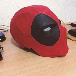 Mascara De Deadpool (para Armar En Papel)