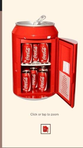 Refrigerador Retro Vintage En Forma De Lata Coca Cola