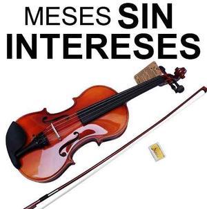 Vecctronica: Kit Violin 4/4 Con Estuche Brea Y Arco Nuevos.!