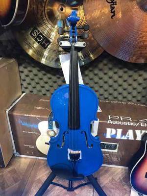 Violín Symphony Azul 4/4 Con Estuche
