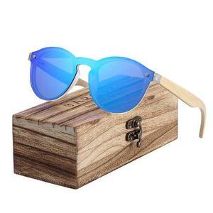Lentes Gafas De Sol De Madera Bambú Bamboo Wayfarer De Lujo