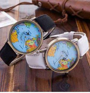Reloj Avión Mapa Mundial Unixes Moda Vintage