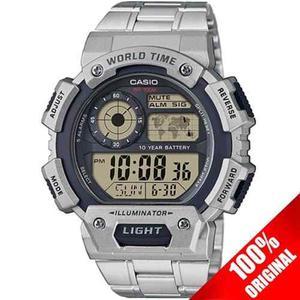 Reloj Casio Ae  Acero Inoxidable - Alarma - Pila 10