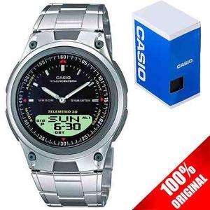 Reloj Casio Aw80 Metal - 30 Memorias - Luz - Original