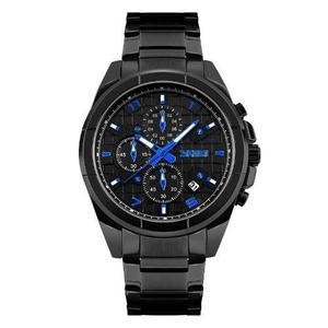 Reloj Hombre Acero Inoxidable Negro Sumergible 50 Metros