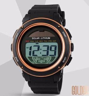 Reloj Solar Sport Digital Cronometro Sumergible 50 Metros