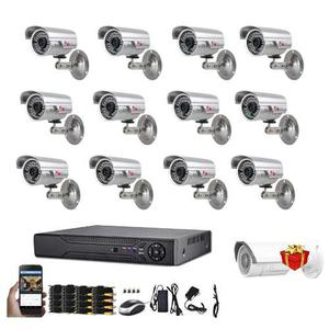 Kit 12 Camaras Alta Resolucion Hdmi Cctv Regalos +hdd 1tb