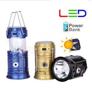Lampara Led Solar Usb Recargable Powerbank Linterna Foco