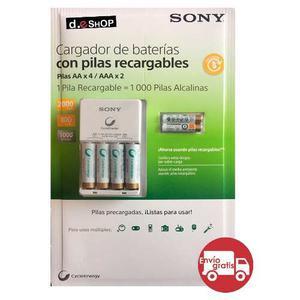 Kit Cargador De Baterías Y Pilas Aa Y Aaa Sony Cycle Energy