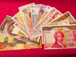 Billete Lote De 22 Billetes Diferentes Del Mundo Nuevos