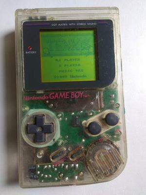 Game Boy Tabique Transparente Con Juego Tennis