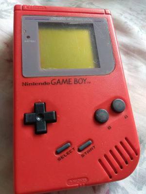 Nintendo Game Boy Tabique Rojo Con Juego Tetris