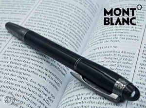 Pluma Boligrafo Montblanc Moon Pearl Black Oxford Tapa