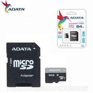 Memoria Micro Sd _64gb Adata Clase_10 ^