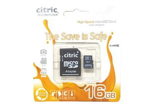 Pack De 5 Tarjetas De Memoria Micro Sd Citric 16gb