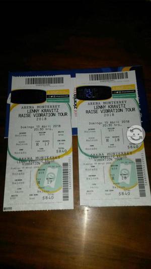 Boletos concierto Lenny Kravitz