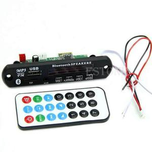 Modulo Reproductor De Audio Mp3 Bluetooth 12v Usb Sd Y Aux