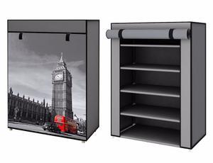 Zapatera 5 Repisas Londres Big Ben Envío Gratis