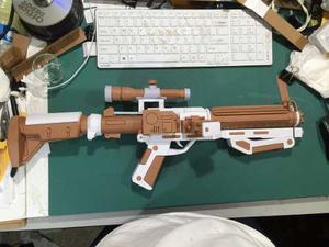 Blaster De Starwars Stormtrooper (para Armar En Papel)
