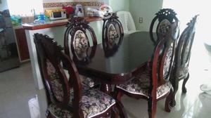 Paquete de 6 sillas de madera cedro