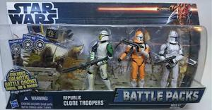 Star Wars Clone Wars Republic Clone Troopers Battle Pack 3fg
