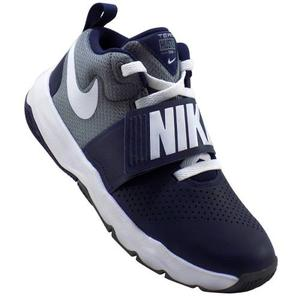 Tenis Nike Team Hustle D8 Para Niño Azul/gris