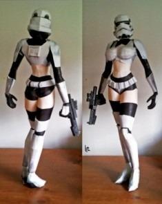 Trooper Girl Starwars Detallado (para Armar En Papel)