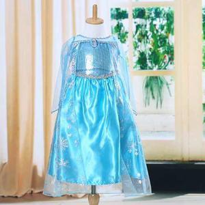 Vestido Princesa Elsa De Frozen Para Niña Niñas Azul