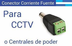 Conector De Corriente Camara Para Cctv Macho