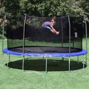 Trampolin Skywalker De 15 Pies Con Red De Seguridad Azul.