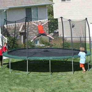 Trampolin Skywalker De 17 Pies Con Red De Seguridad..