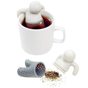 Infusor De Silicon Para Te Modelo Mr Tea Color Gris